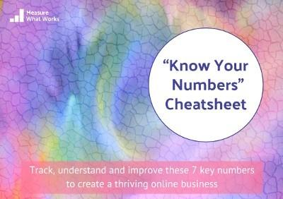 Know Your Numbers Cheatsheet