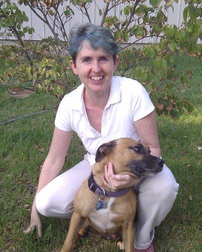 Nikki with her dog, Sadie