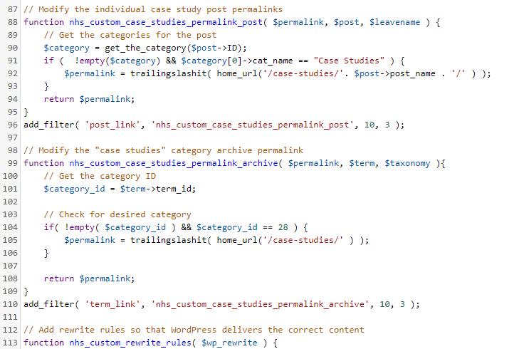 Custom Permalinks for a Single Category
