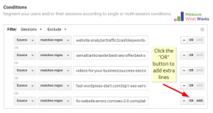 Stop Google Analytics Spam - Filter Multiple Lines
