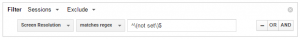 Stop Google Analytics Spam - Segment Screen Resolution